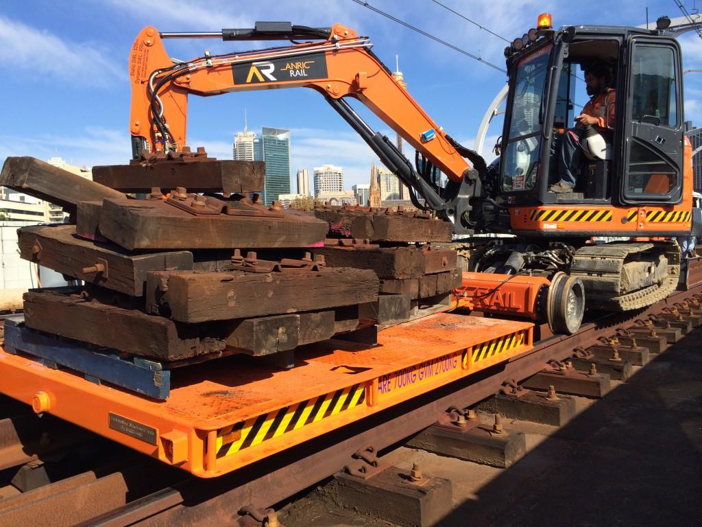 anric hi rail excavator